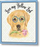 Yellow Lab-jp3869 Metal Print