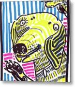 Yellow Lab Metal Print by Robert Wolverton Jr