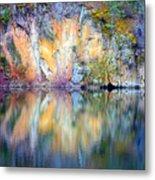 Yellow Lake Abstract Metal Print