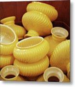 Yellow Lampshades Metal Print