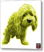 Yellow Lhasa Apso Pop Art - 5331 - Wb Metal Print