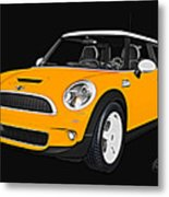 Yellow Mini  Metal Print