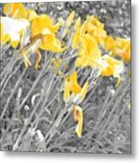 Yellow Moment In Time Metal Print