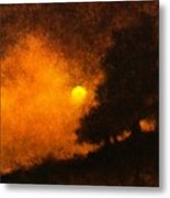 Yellow Moon Metal Print