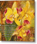 Yellow Orchids Acrylic 2 Cor 5 Metal Print