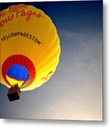 Yellow Pages Balloon Metal Print