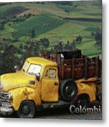 Yellow Pick-up Truck Metal Print