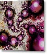 Yellow Pink Spiral Art Metal Print