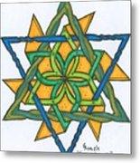 Yellow Pinnwheel Metal Print