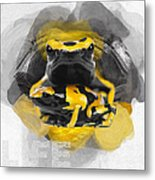 Yellow Poison Dart Frog No 04 Metal Print