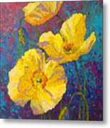 Yellow Poppies Metal Print
