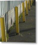 Yellow Posts Metal Print