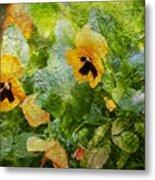 Yellow Pretty Little Flowers Metal Print