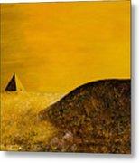 Yellow Pyramid Metal Print