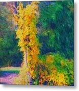 Yellow Reflections Metal Print