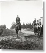 Yellow Riders On Horseback Near Arnhem Metal Print