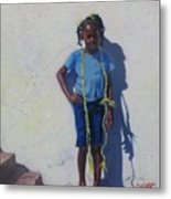 Yellow Rope Metal Print