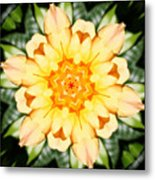 Yellow Rose Kaleidoscope  Metal Print
