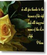 Yellow Rose Ps.7 V 17 Metal Print