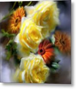 Yellow Roses Metal Print
