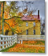Yellow Shaker House 4 Metal Print