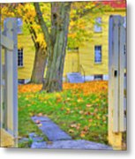 Yellow Shaker House Gate Metal Print
