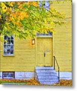 Yellow Shaker House Metal Print