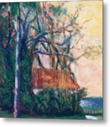 Yellow Sky At Edison Winter Estate Metal Print