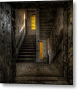 Yellow Stairs Metal Print