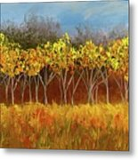 Yellow Stand Of Trees Metal Print