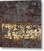 Yellow Stripe 1 Metal Print