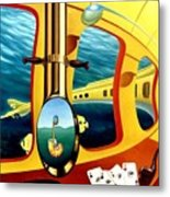 Yellow Submarine Metal Print