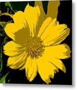 Yellow Sunshine Work Number 8 Metal Print