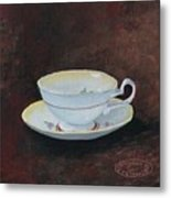 Yellow Teacup Metal Print