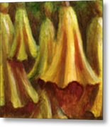 Yellow Trumpet Flowers Metal Print