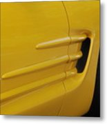Yellow Vette Metal Print