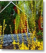 Yellow Weeds Metal Print
