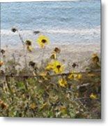 Yellow Wildflowers- Art By Linda Woods Metal Print