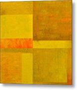 Yellow With Orange Metal Print