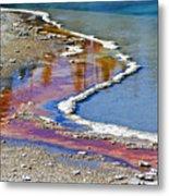 Yellowstone Abstract I Metal Print by Teresa Zieba