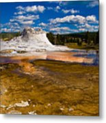 Yellowstone Geyser Metal Print