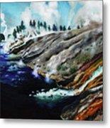 Yellowstone Hot Springs Metal Print
