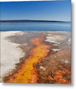 Yellowstone Lake And West Thumb Geyser Flow Metal Print