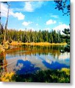 Yellowstone Lake In Summer Metal Print
