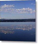 Yellowstone Lake Reflection-signed-no Bird Metal Print