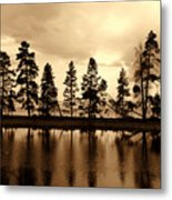 Yellowstone Lake Metal Print