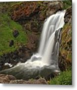 Yellowstone Moose Falls Metal Print