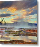 Yellowstone National Park-mammoth Hot Springs Metal Print by Kevin McNeal