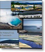 Yellowstone Park August Panoramas Collage Metal Print