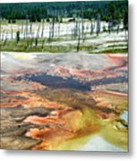 Yellowstone Park Firehole Spring Area Vertical 02 Metal Print